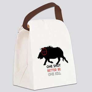 One Shot One Kill Wild Boar Hog Canvas Lunch Bag