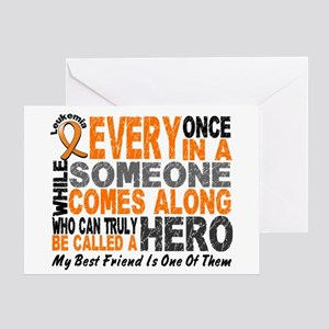 HERO Comes Along 1 Best Friend LEUK Greeting Card