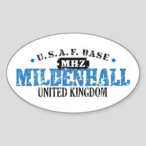 Mildenhall Air Force Base Oval Sticker