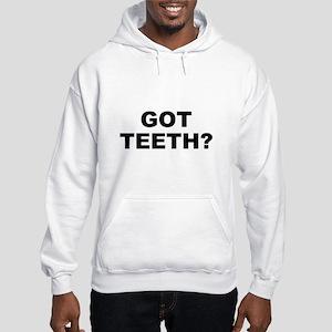 Got teeth? EAT FIST Hooded Sweatshirt