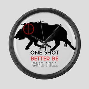 One Shot One Kill Wild Boar Hog Large Wall Clock