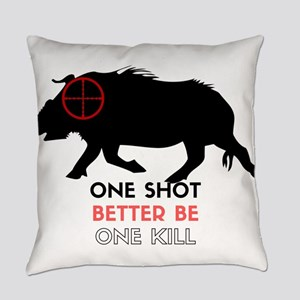 One Shot One Kill Wild Boar Hog Everyday Pillow