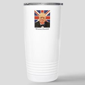 """""""Winston Churchill"""" Stainless Steel Travel Mug"""