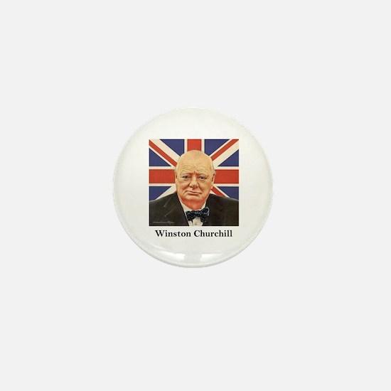 """""""Winston Churchill"""" Mini Button"""