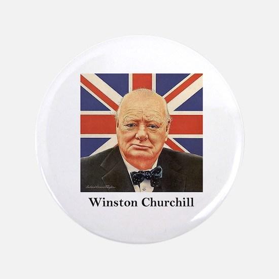 """Winston Churchill"" 3.5"" Button"