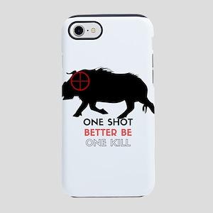 One Shot One Kill Wild Boar Ho iPhone 7 Tough Case