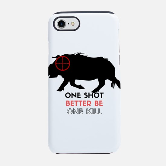 One Shot One Kill Wild Boar Ho iPhone 7 Tough Case