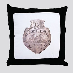 Steamboat Inspector Throw Pillow