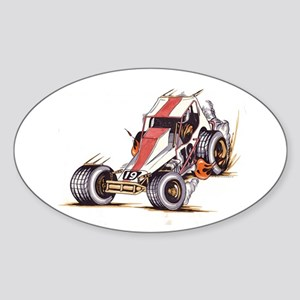 """Old Dirt 19"" Oval Sticker"