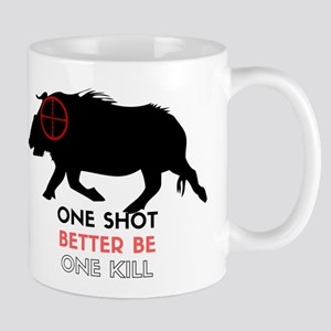 One Shot One Kill Wild Boar Hog Mugs