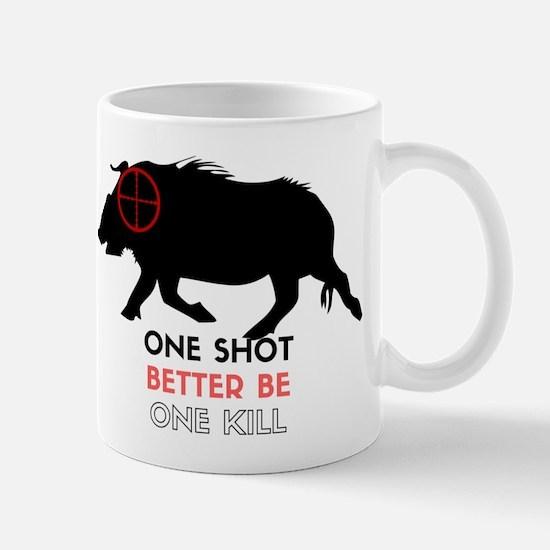 One Shot One Kill Wild Boar Hog Mugs