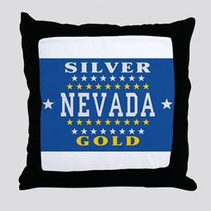 Nevada Flag (1905) Throw Pillow