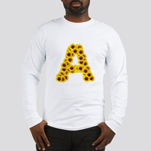 Sunflower Letter A Long Sleeve T-Shirt