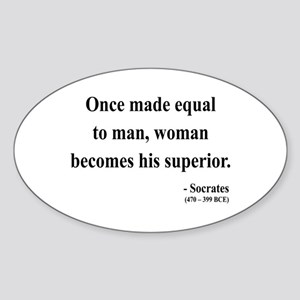 Socrates 13 Oval Sticker