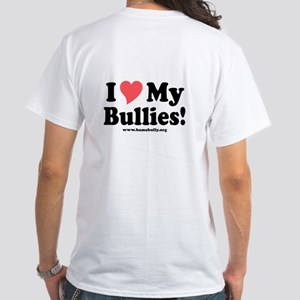Heart Bullies White T-Shirt (design on back)