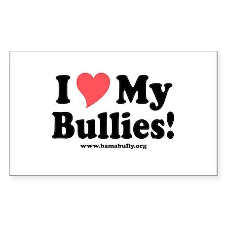 Heart Bullies Rectangle Sticker