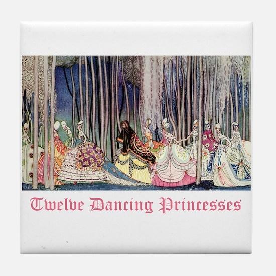 Twelve Dancing Princesses Tile Coaster