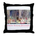 Twelve Dancing Princesses Throw Pillow
