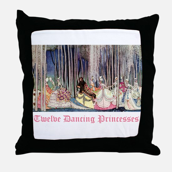Twelve Dancing Princesses Throw Pillow