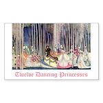 Twelve Dancing Princesses Rectangle Sticker