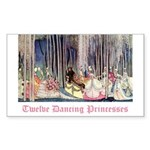 Twelve Dancing Princesses Rectangle Sticker 50 pk
