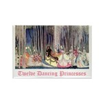 Twelve Dancing Princesses Rectangle Magnet (100 pa