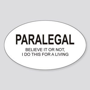 Paralegal Oval Sticker
