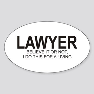 Lawyer Oval Sticker