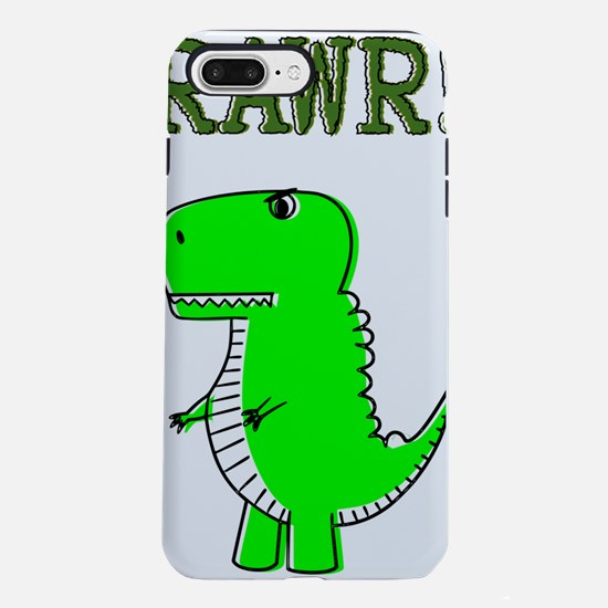 Cute Angry T-Rex RAWR iPhone 7 Plus Tough Case
