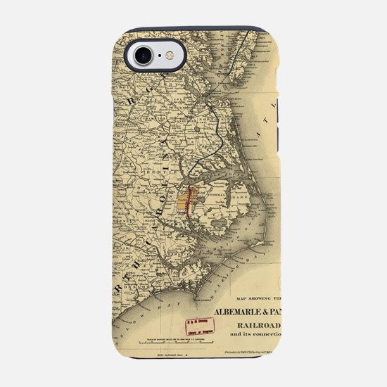 Vintage Map of The North Carol iPhone 7 Tough Case