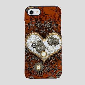Steampunk, wonderful heart iPhone 7 Tough Case