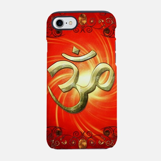 The sign om in gold iPhone 7 Tough Case