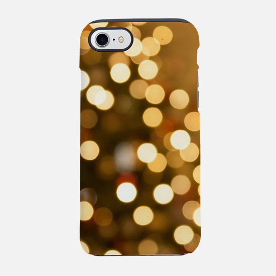 Gold Christmas Tree iPhone 7 Tough Case