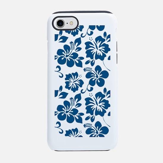 Blue Hibiscus iPhone 7 Tough Case