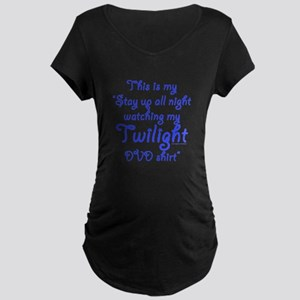 Watching Twilight Maternity Dark T-Shirt