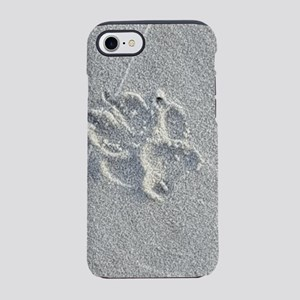 Sandy Paw Print iPhone 7 Tough Case
