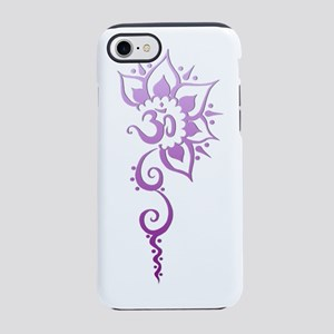 Rising Om - Purple Fade iPhone 7 Tough Case