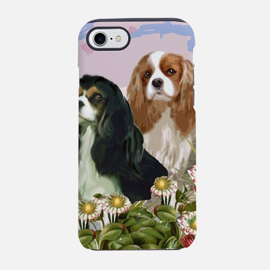 cavaliers in the garden iPhone 7 Tough Case
