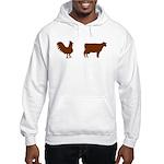 Brown Chicken Brown Cow Hooded Sweatshirt