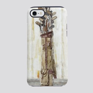 Antique Watercolor Golf Clubs  iPhone 7 Tough Case