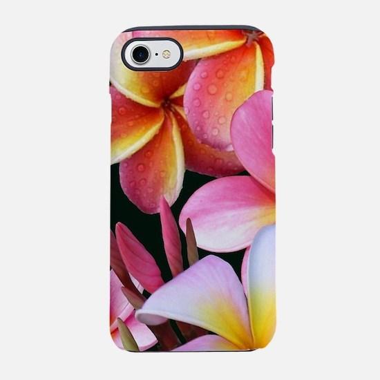 Pink Plumerias iPhone 7 Tough Case