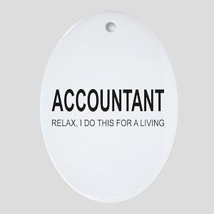 Accountant Oval Ornament