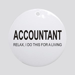 Accountant Ornament (Round)