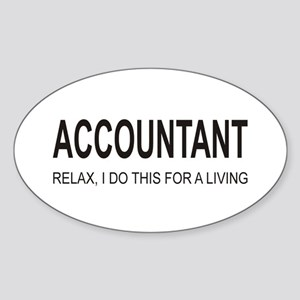 Accountant Oval Sticker