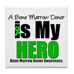 Bone Marrow Donor Hero Tile Coaster