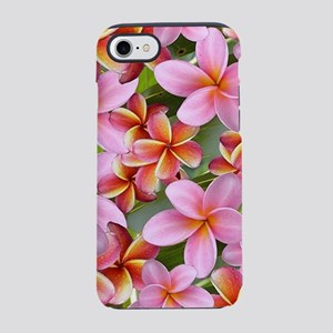 Pink Plumeria Flowers iPhone 7 Tough Case