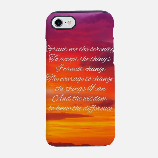 Serenity Prayer - Sunset (Narr iPhone 7 Tough Case