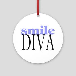 Smile Diva Ornament (Round)
