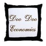 Doo Doo Economics Throw Pillow
