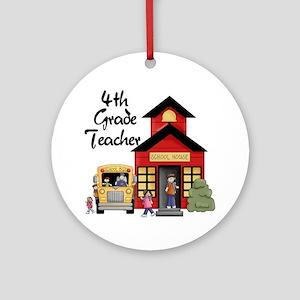 4th Grade Teacher Ornament (Round)